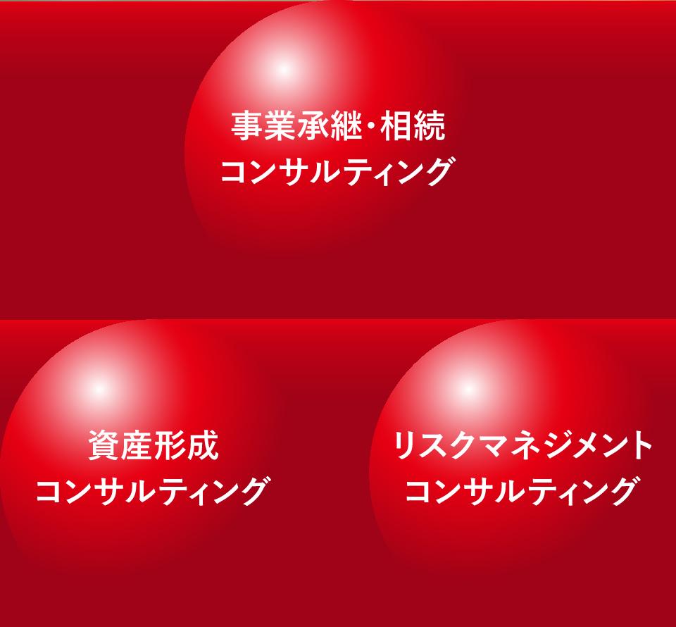 事業承継・相続/資産形成/リスクマネジメントコンサルティング